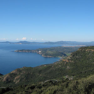 Surroundings: Pala Entone and Gulf of Alghero view